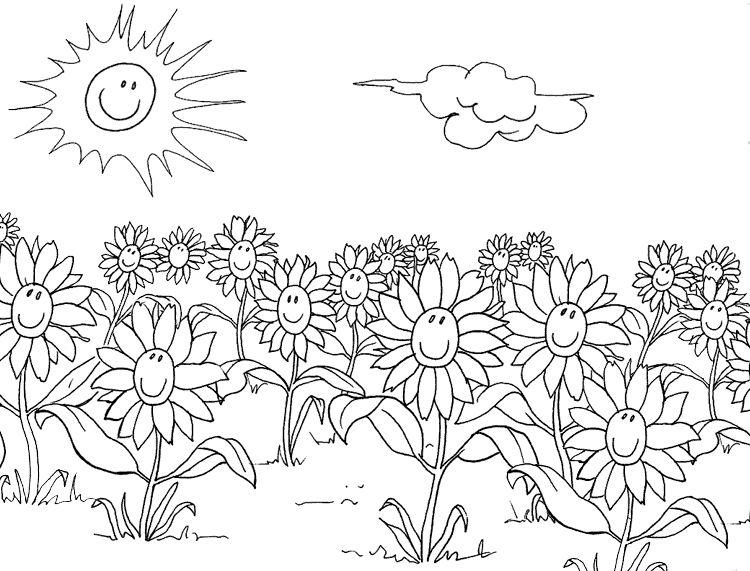 Ausmalbilder Blumen-23