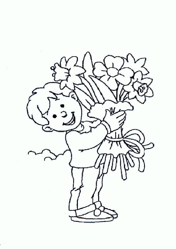 Ausmalbilder Blumen-25