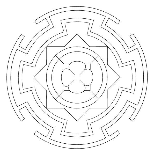 Ausmalbilder-Mandala35
