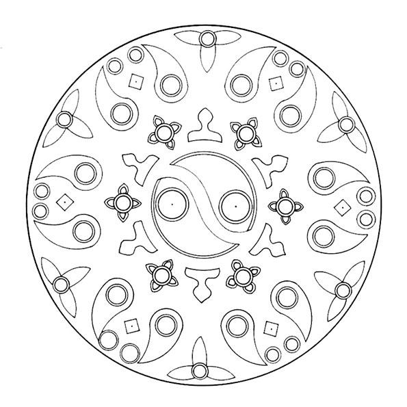 Ausmalbilder-Mandala48
