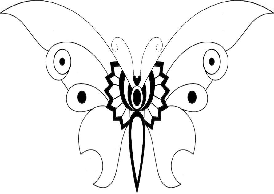 Ausmalbilder Schmetterling-14