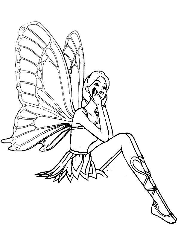 Ausmalbilder Schmetterling-15