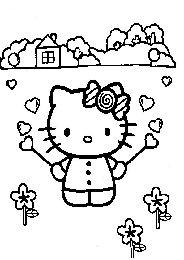 Ausmalbilder  Hello Kitty-38