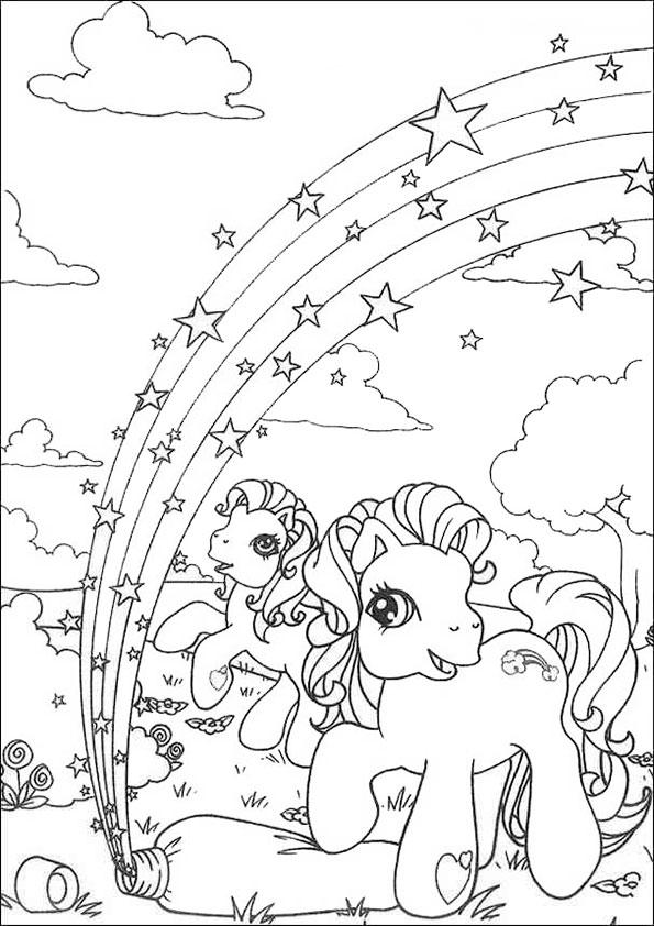 ausmalbilder filly pferde zum ausdrucken  kinder ausmalbilder