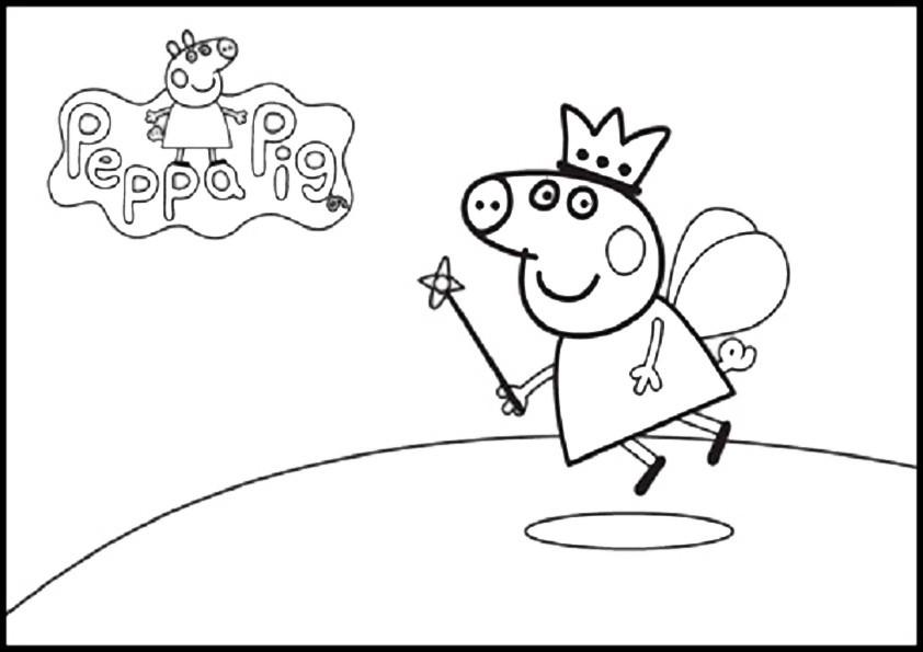 Malvorlagen Für Kinder: Ausmalbilder Peppa Pig-13