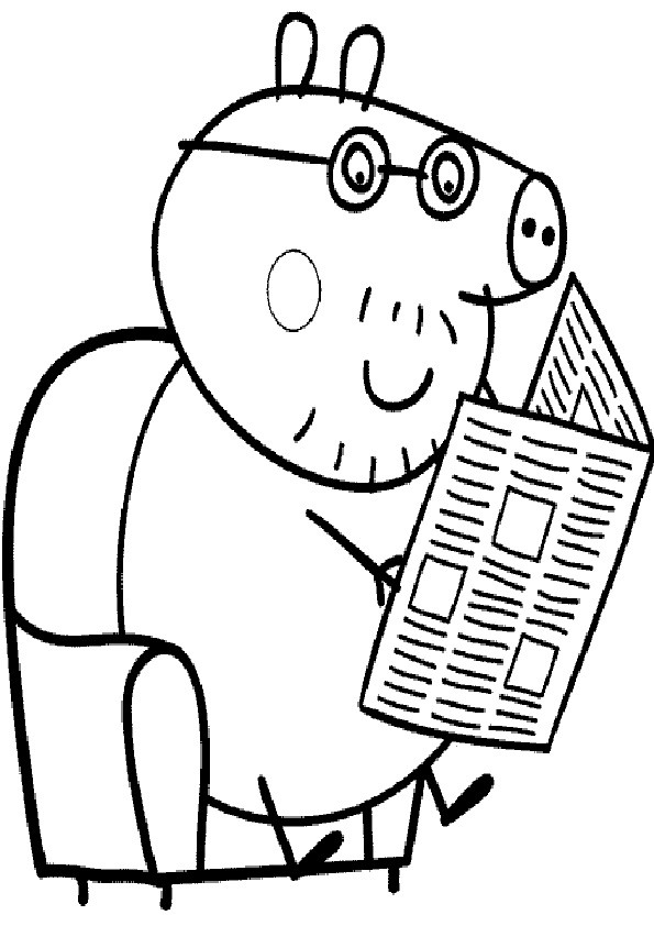 Ausmalbilder Peppa Pig-3