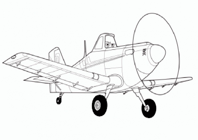 Ausmalbilder Planes-2
