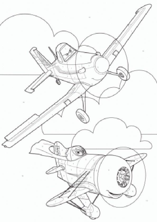 Ausmalbilder Planes-3