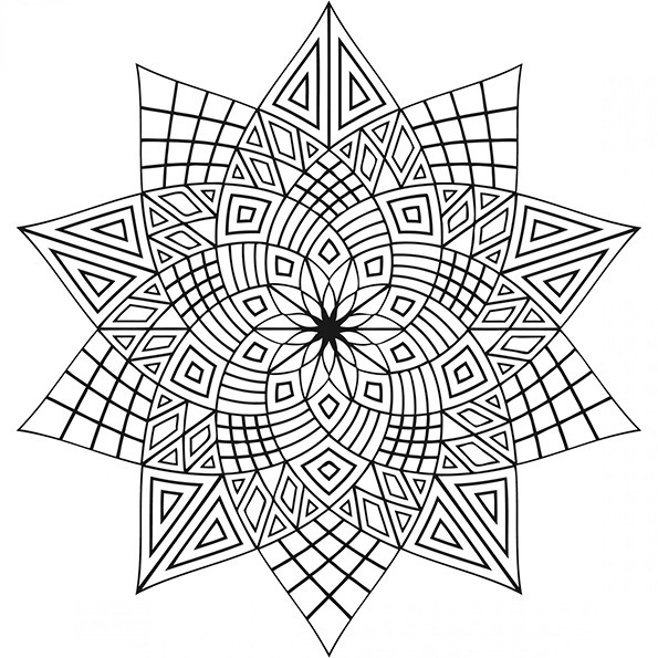 Ausmalbilder Mandala-51