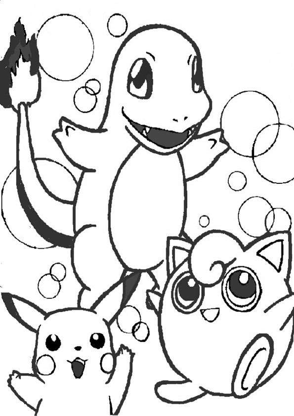 ausmalbilder pokemon- 1