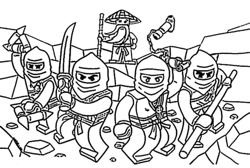 ausmalbilder ninjago 3