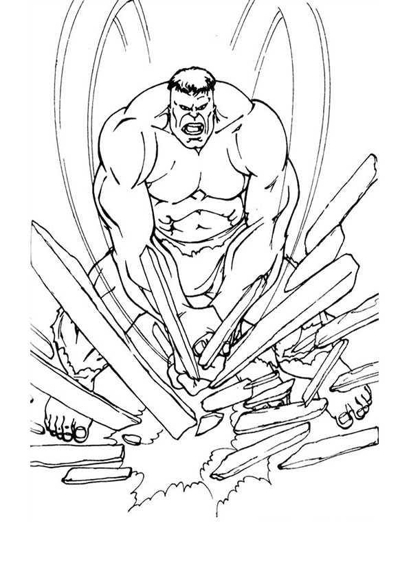 Ausmalbilder Hulk Hulk Zum Ausdrucken: Ausmalbilder Malvorlagen