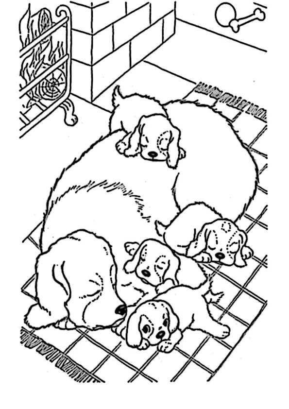 ausmalbilder hunde-24