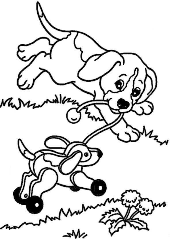 ausmalbilder hunde-6