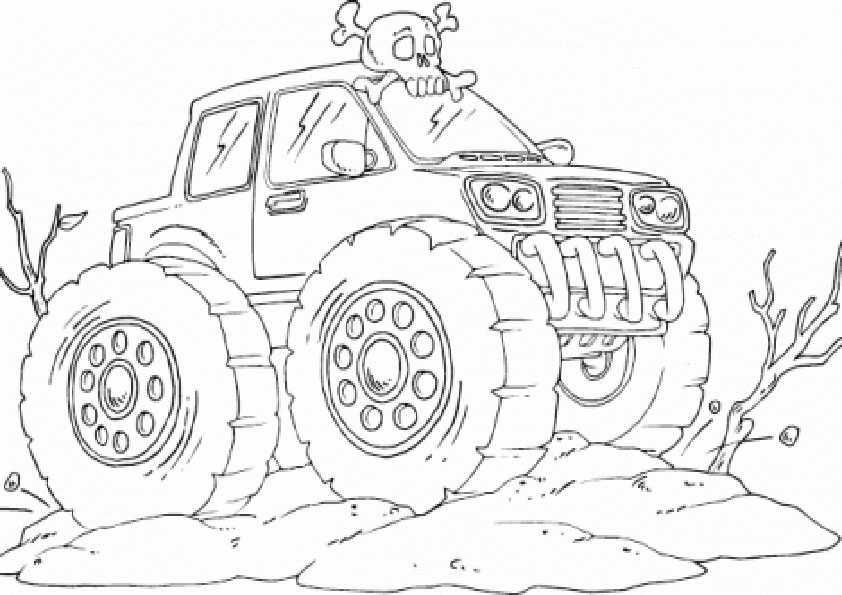 ausmalbilder monster truck -2