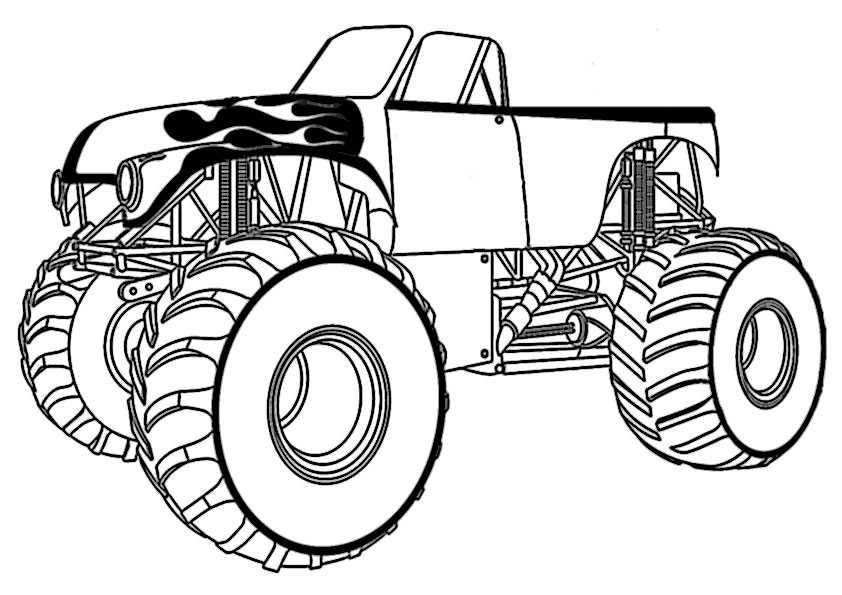 ausmalbilder monster truck -5