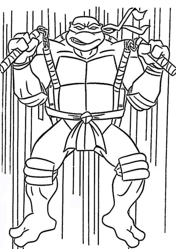 ausmalbilder   ninja turtles- 1