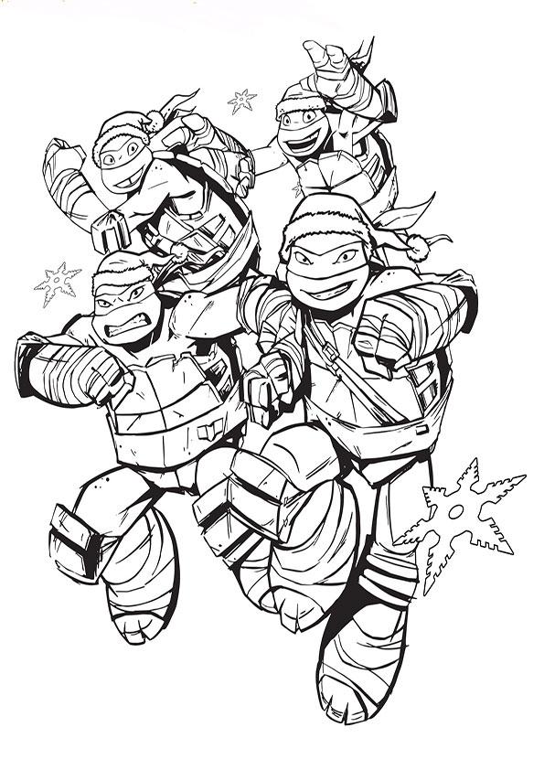 ausmalbilder ninja turtles -10