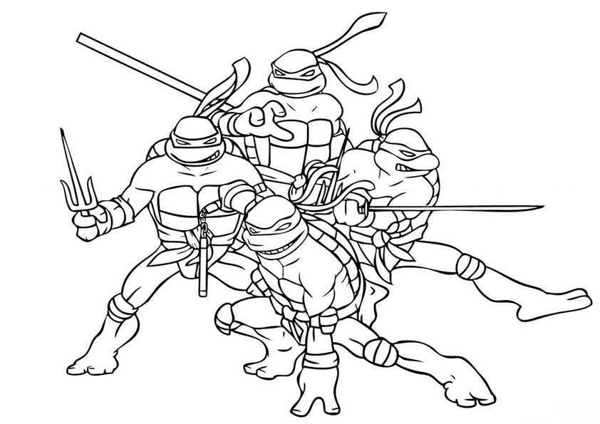 ausmalbilder ninja turtles -2