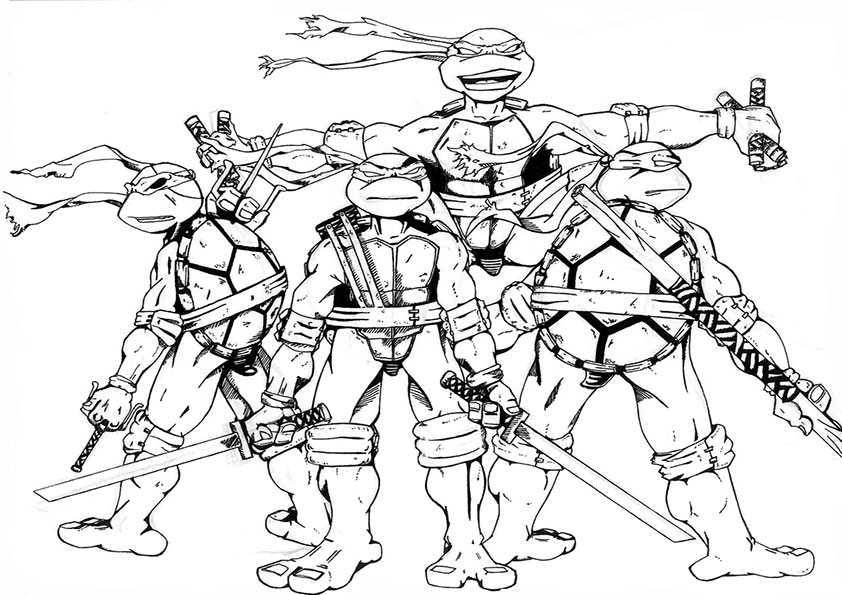 ausmalbilder ninja turtles -3