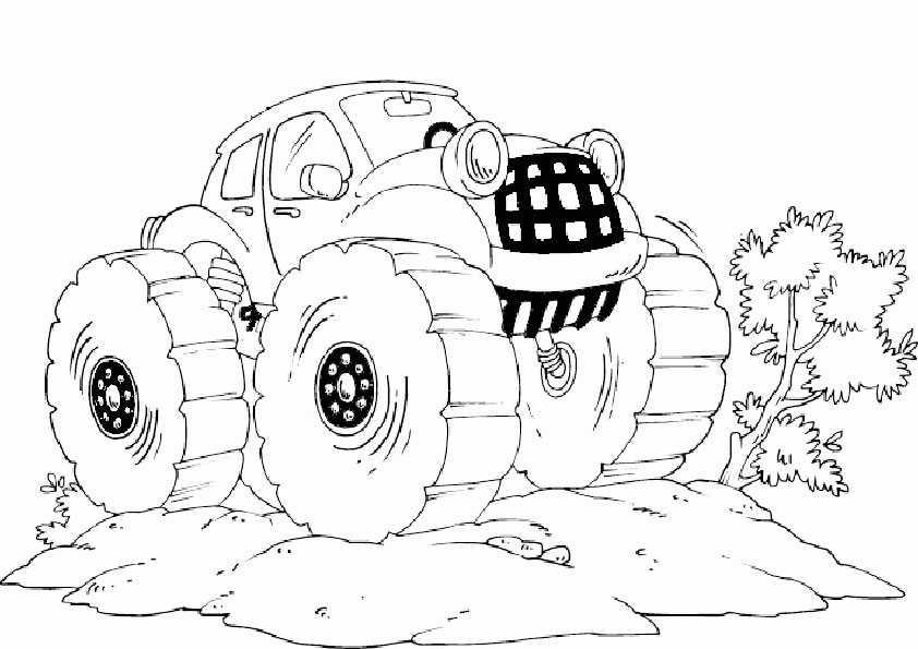 ausmalbilder monster truck -6