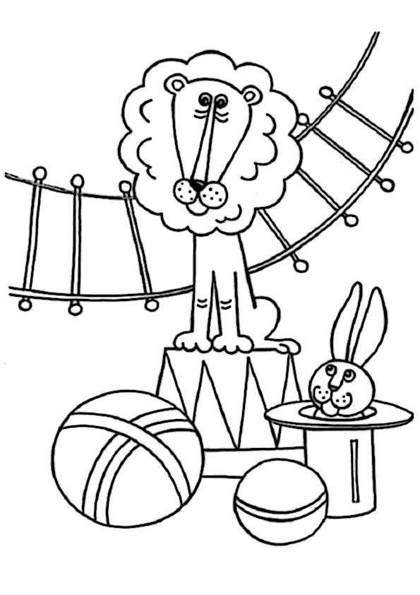 ausmallbilder zirkus -10