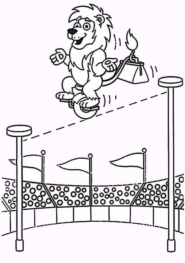 ausmallbilder zirkus -11