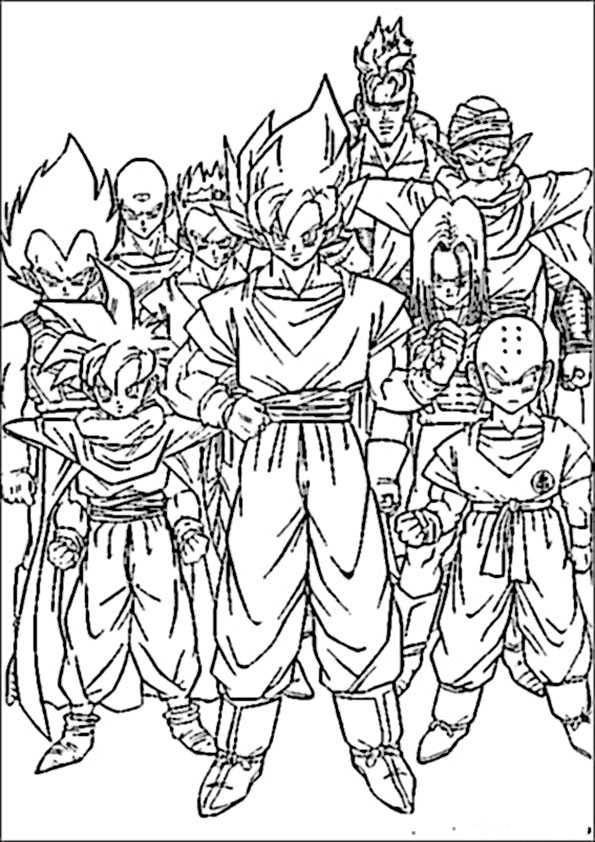 ausmalbilder dragon ball-4
