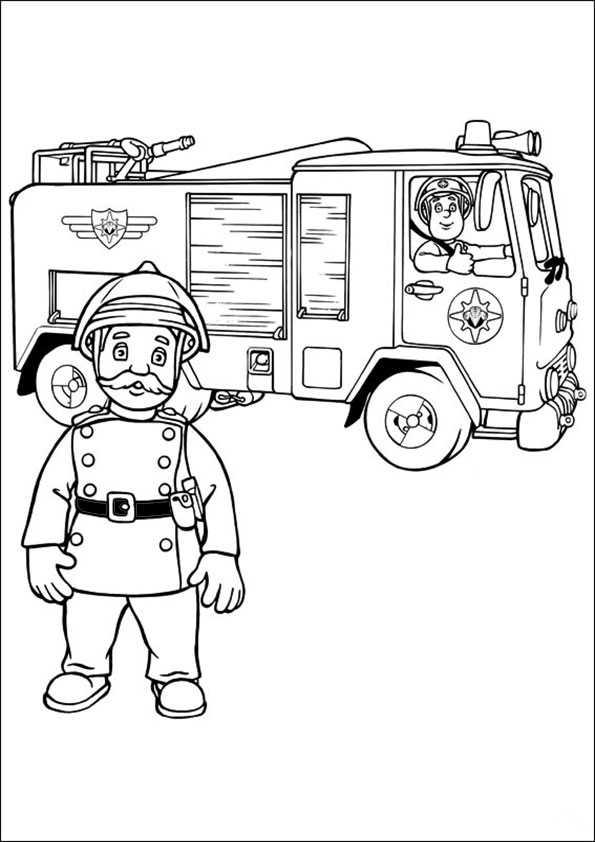 Feuerwehrmann Sam Ausmalbilder 8 Ausmalbilder Malvorlagen