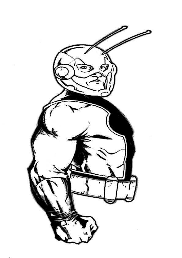 ausmalbilder  ant-man-4