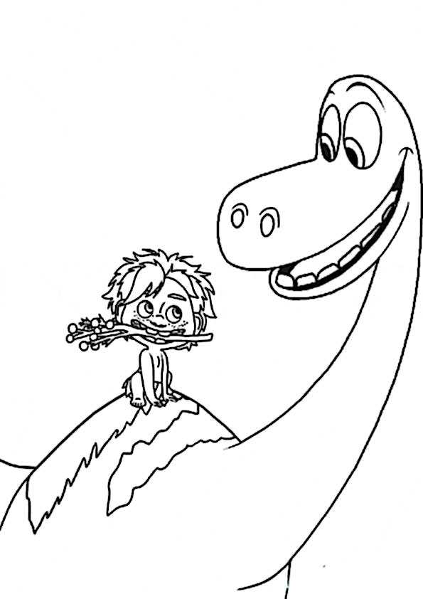 ausmalbilder der gute dinosaurier-11