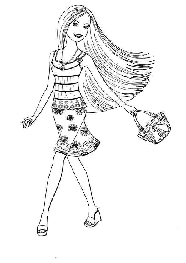 ausmalbilder barbie -71