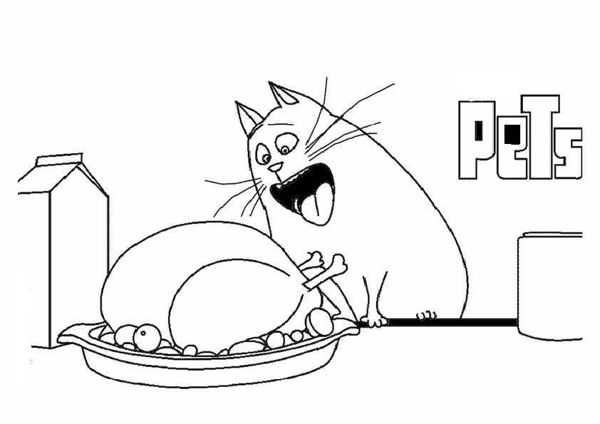 ausmalbilder pets -4