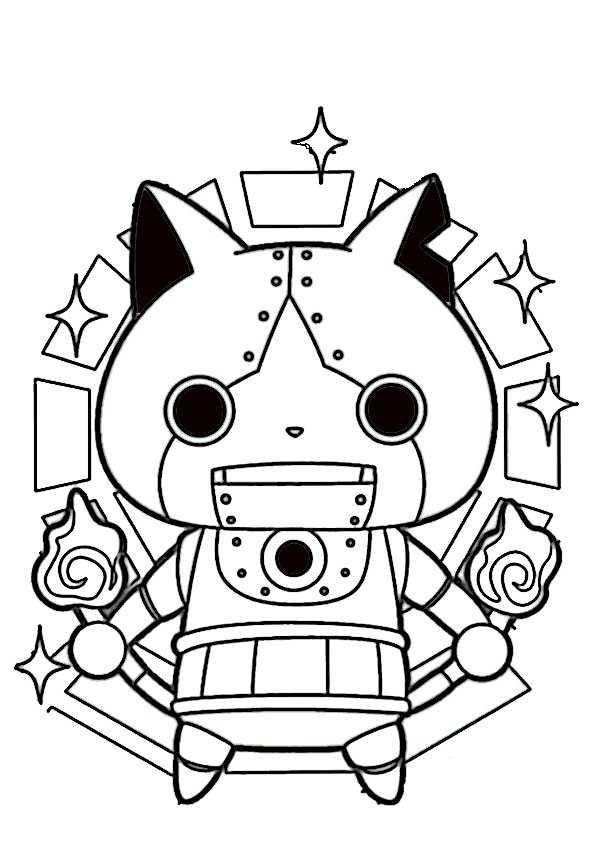 ausmalbilder yo kai watch-1