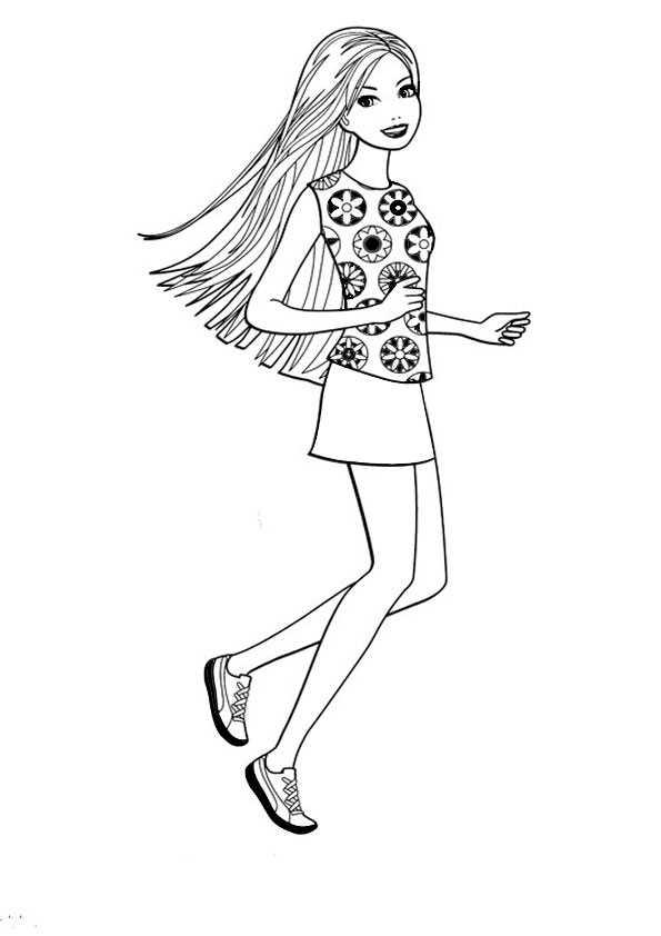 ausmalbilder barbie -82