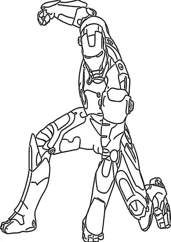 ausmalbilder ironman -8