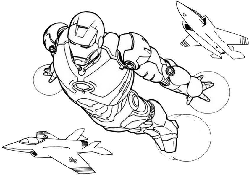 ausmalbilder ironman -9