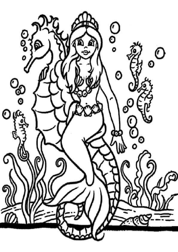 meerjungfrauen-7 | ausmalbilder malvorlagen