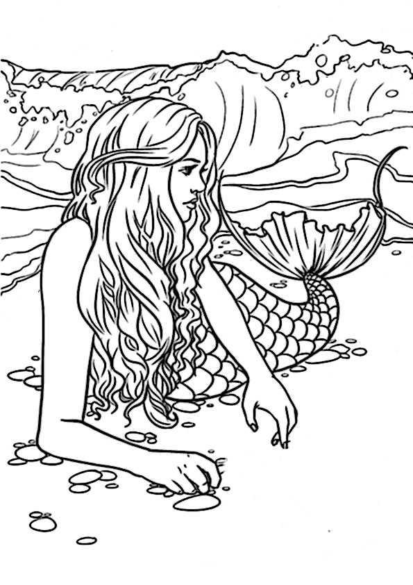 ausmalbilder meerjungfrauen-7