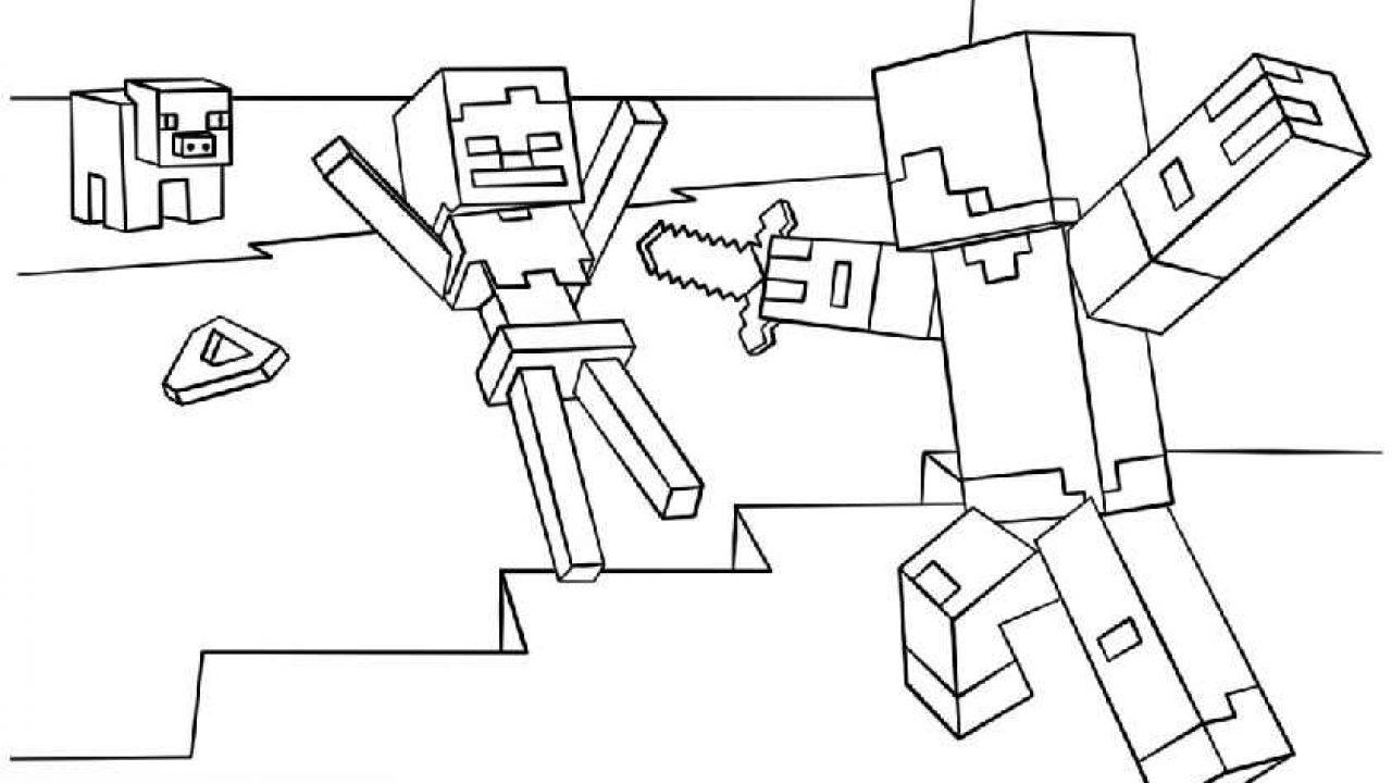 Ausmalbilder Minecraft Tiere - Kostenlos zum Ausdrucken