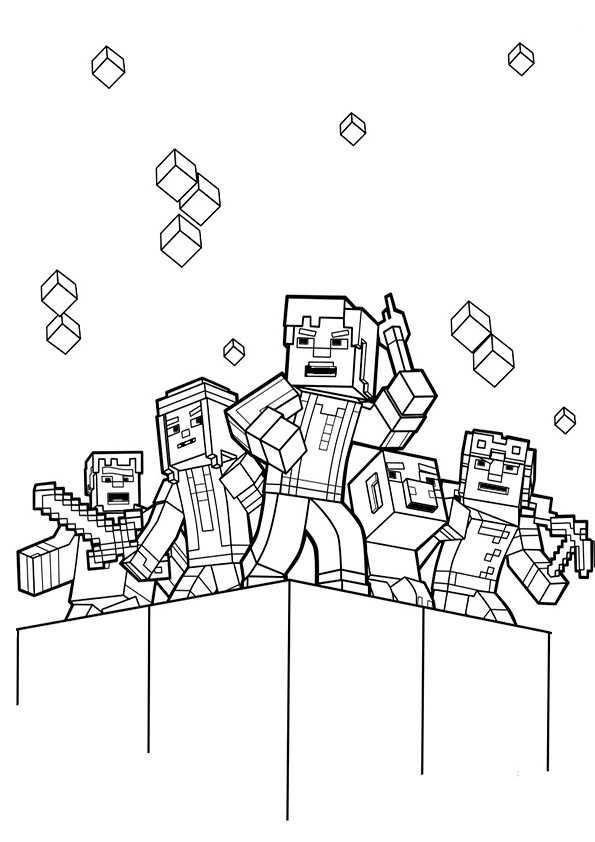 ausmalbilder minecraft-7