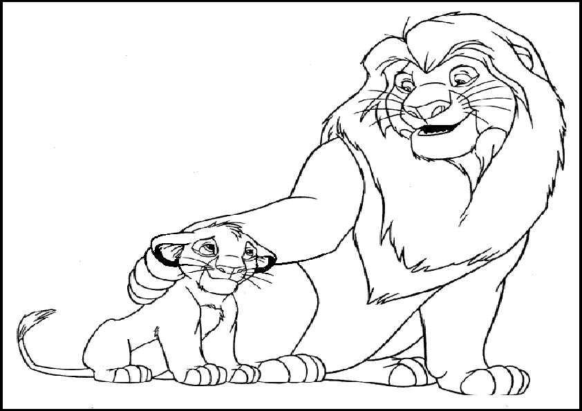 Löwe 1 Ausmalbilder Malvorlagen
