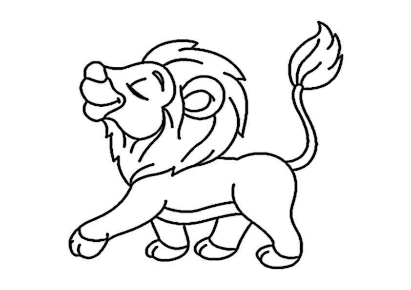 ausmalbilder löwe-3