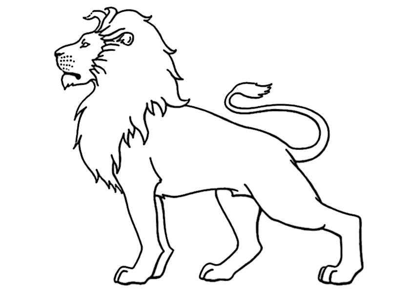 Löwe 5 Ausmalbilder Malvorlagen