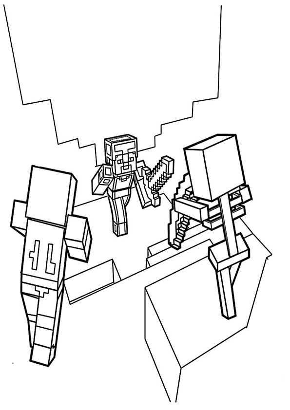 ausmalbilder minecraft-12