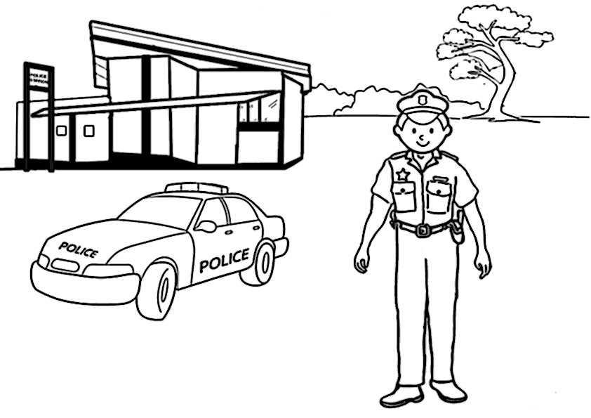 ausmalbilder polizei-6
