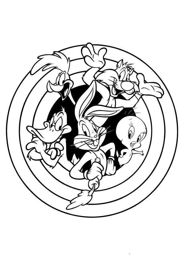 ausmalbilder looney tunes -1