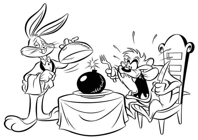 ausmalbilder looney tunes, malvorlagen looney tunes-17