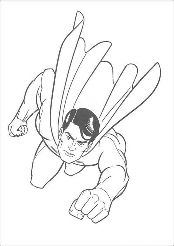 ausmalbilder superman -3