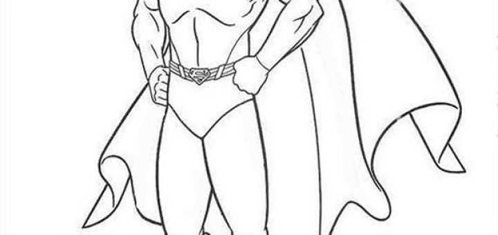superman8  ausmalbilder malvorlagen